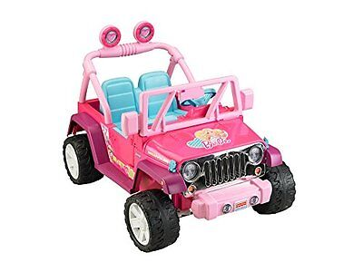 Kids Electric Car Fisher Price Barbie Jeep Wrangler Baby Racer Children Play Toy