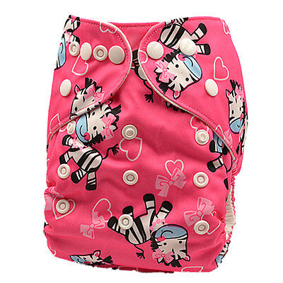 New Modern Cloth Nappies Diaper Reusable Waterproof Adjustable Baby Nappy (D103)