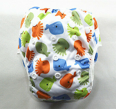 New Reusable Swim Nappy Baby Toddler Cover Diaper Pants Nappies Swimmers