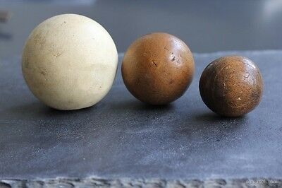 Antique Polo Balls Bamboo Wood Pulp Classic Outdoor Prop Display Gift (3 Balls)