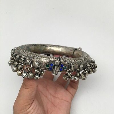 1pc Vintage Afghan Kuchi Tribal Jewelry Round Hollow Anklet jingle bells, SE391