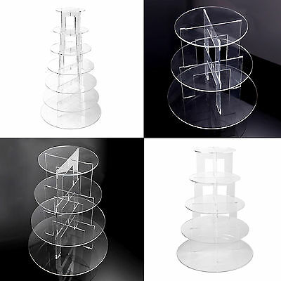 Cupcake Cup Cake Stand Display Round Clear Acrylic Wedding Birthday Party