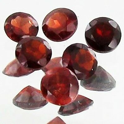2ct Wine Red Garnet Round Parcel 6 Gems Lot N030