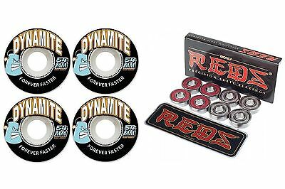 Dynamite Wheels Forever 54mm FREE POST Skateboard Wheels + Bones Reds Bearings