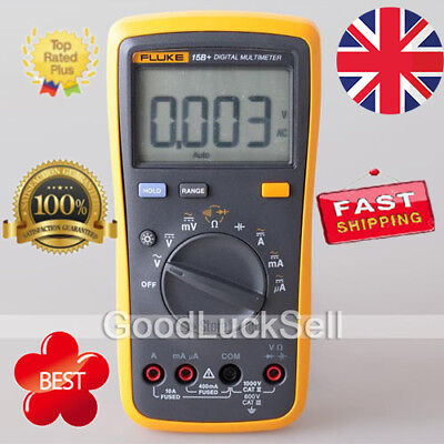 NEW FLUKE 15B+ F15B+ F Auto Range Digital Multimeter Meter UK Free Ship