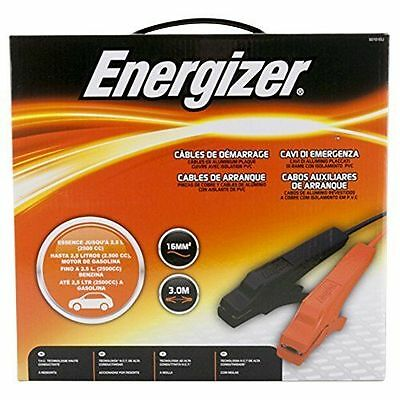 Energizer 50101A Car Jump Leads, 3 m Lenght for Cars Upto 2.5 Liter