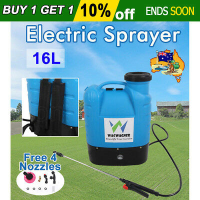 New 16L Electric Weed Sprayer Spray Rechargeable Backpack Farm Garden Pump 12V