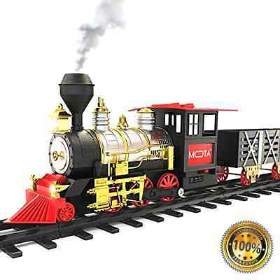 Classic Toy Train with Real Smoke - Signature Lights and Sounds - Full Set Gift