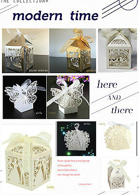 1-200PCS Luxury Wedding Party Sweets Cake Candy Gift Favour Boxes 24hr dispatch
