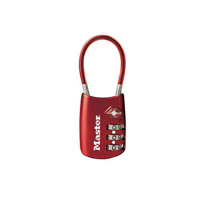 New MASTER LOCK Luggage Lock with Flexible Shackle Cable Lock 4688D
