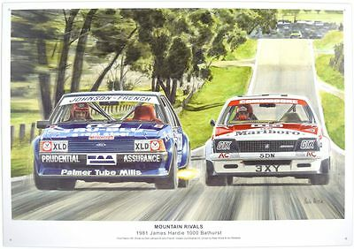 Bathurst 1981 Mountain Rivals Tin Sign Ford Holden Peter Brock Dick Johnson
