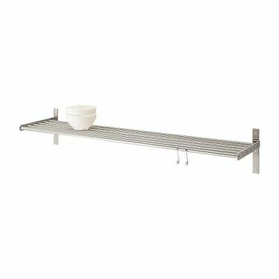 GRUNDTAL Kitchen Home Wall Shelf Rack Holder,Stainless Steel,Multi Use,3 Sizes