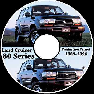 TOYOTA LAND CRUISER  80 Series 1HD 1HZ 1FZ Workshop Repair Manual CD Landcruiser