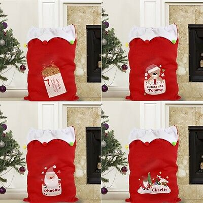 PERSONALISED Embroidered Large Christmas Xmas Santa Sack Stocking Gift Present