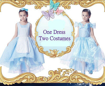 *Sale*One Dress two Costums Disney Princess Cinderella 5years
