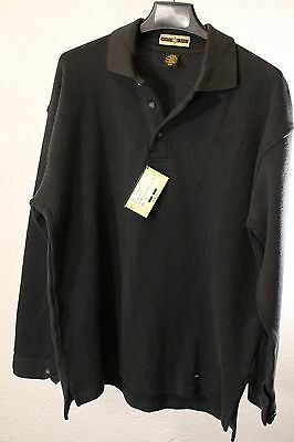 Men's North End Long Sleeve Charcoal Gray Pullover Polo Size M ABC Logo