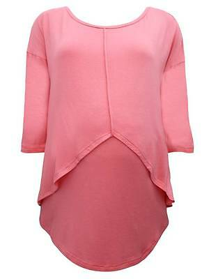 BNWT Scoop Neck Maternity Top Pink Size 8 - 18