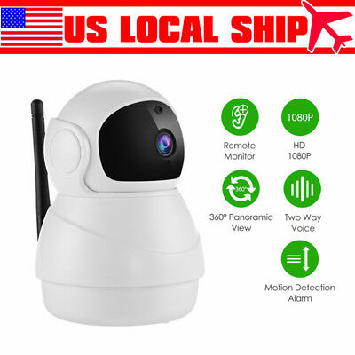 WiFi Wireless 720P IP Camera TwoWay Audio Baby Monitor Security Cam Night Vision