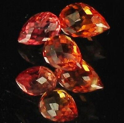 1.12ct Yellow/Red Sapphire Briolette Parcel 4 Gems Lot N042