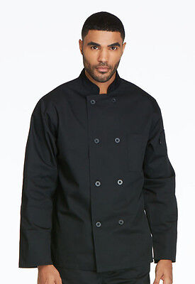 Dickies Unisex Classic 8-Button Chef Coat DC45  Black WE SHIP FREE