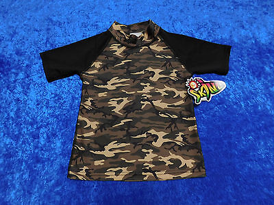 NWT Sunskinz Sun Protection Zone SPF 100 Shirt Size 8  Camouflage