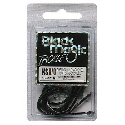 Black Magic KS Hooks - 8/0 5 Pk Black