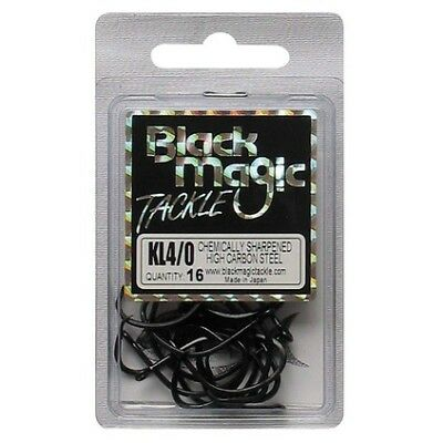 Black Magic KL Hooks - 4/0 16 Pk Black