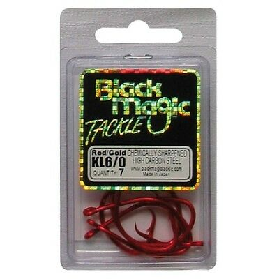 Black Magic KL Hooks - 6/0 7 Pk Red