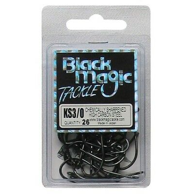 Black Magic KS Hooks - 3/0 26 Pk Black