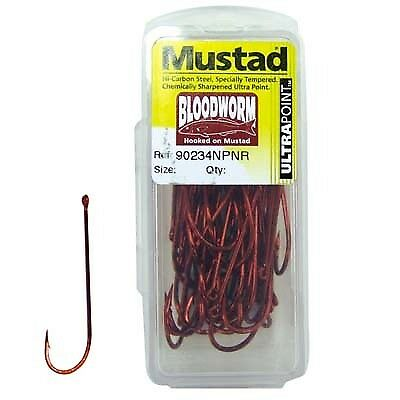 Mustad Bloodworm Hook - 1, 50 Pack