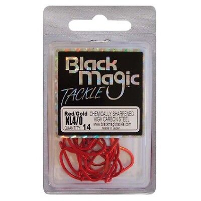 Black Magic KL Hooks - 4/0 14 Pk Red