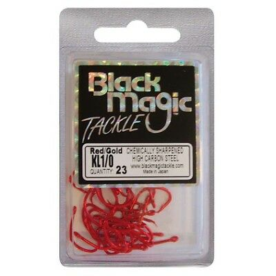 Black Magic KL Hooks - 1/0 23 Pk Red