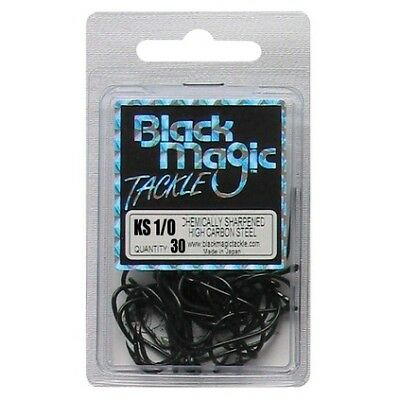 Black Magic KS Hooks - 1/0 30 Pk Black