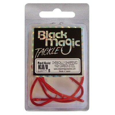 Black Magic KL Hooks - 8/0 5 Pk Red