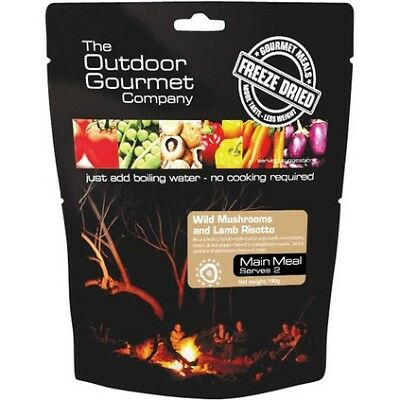 Outdoor Gourmet Company Wild Mushroom and Lamb Risotto Double Serve