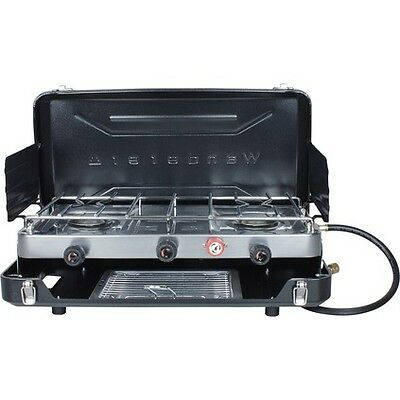 Wanderer 2 Burner LPG Stove With Grill