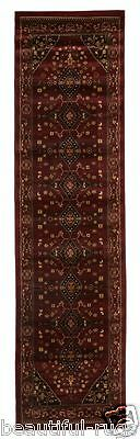 Hallway Runner Rug Hall Runner Burgundy Red Floor Mat 4 Meters Long Traditional