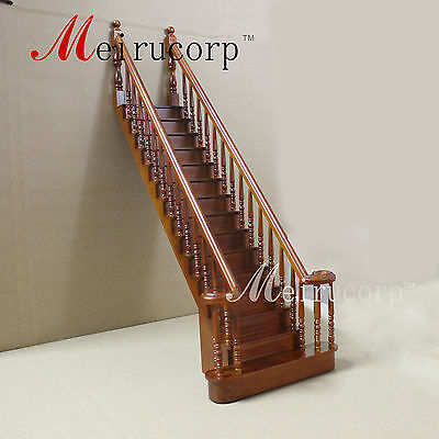 1/6 scale dolls miniature wooden  Handmade  Grand  Stair for 12-14 in