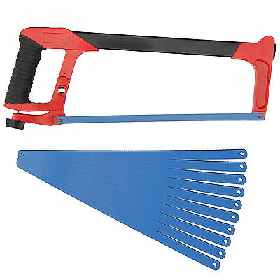 "12"" 300mm Heavy Duty Durable Professional Hacksaw + 12 Blades Hack Saw 24TPI UK"