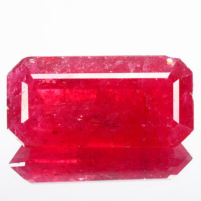 22.40 Cts Natural Earth Mined Top Red Rhodonite Octagon Brazil Gem (Video Avl)