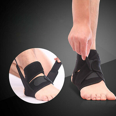 Ankle Elastic Foot Support Black Adjustable Brace Guard Football Basketball New