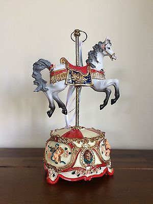 New Nursery Baby Boy Musical Carousel Single Horse Red