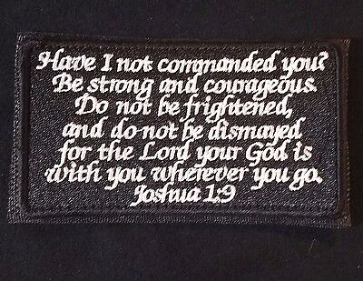 Joshua 1:9 Army Combat Infidel Usa Velcro® Brand Fastener Swat Ops Badge Patch