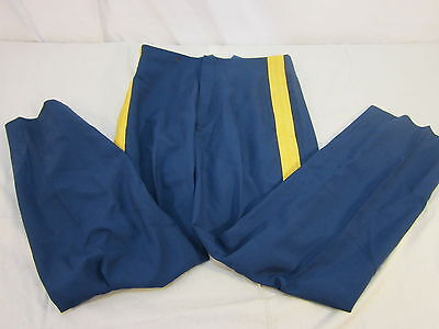ASU SUSPENDERS Senior Enlisted Officer Dress Blue Pants W/ Gold Stripe 32 REG