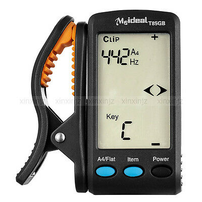 MEIDEAL T85GB LCD Clip-on Electronic Digital Guitar Bass Chromatic Tuner