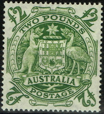Australia 1950 £2 Green SG224d Fine & Fresh Lightly Mtd Mint.