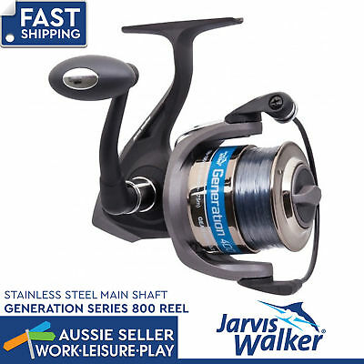 Jarvis Walker Generation Series 800 With Line Spin Reel Spinning Fishing Tackle