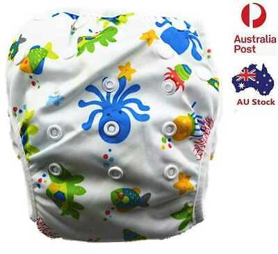 New Reusable Swim Nappy Baby Toddlers Cover Diaper Pants Nappies Swimmers (S67)