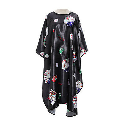 Pro Salon Barber Hair Cut Hairdressing Coloring Poker Pattern Gown Cloth Cape SH