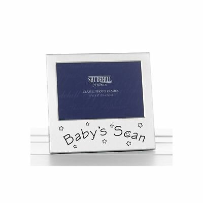 Satin Silver Baby Scan Photo Frame